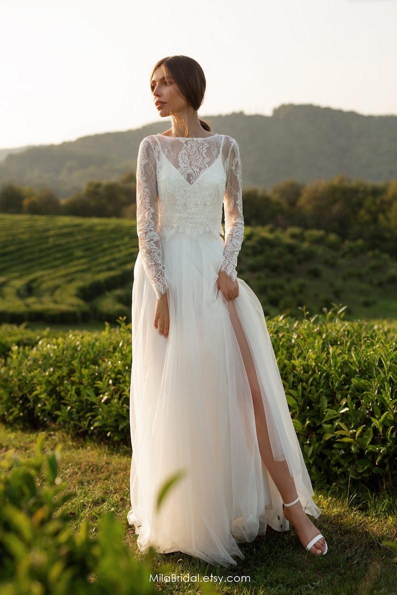 Wedding dress Leslie long-sleeve wedding dress bridal image 5
