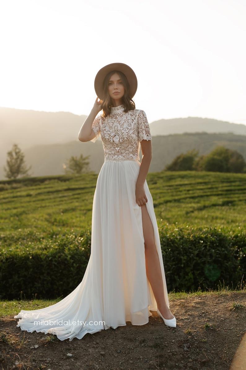 Riki  boho wedding dress  bridal separates  wedding dress image 2