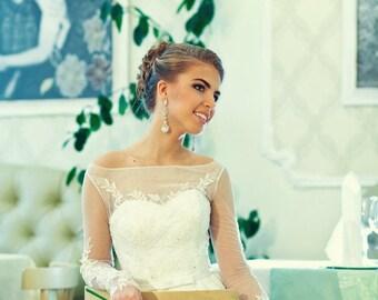 Boho wedding dress long sleeve, Juli wedding dress