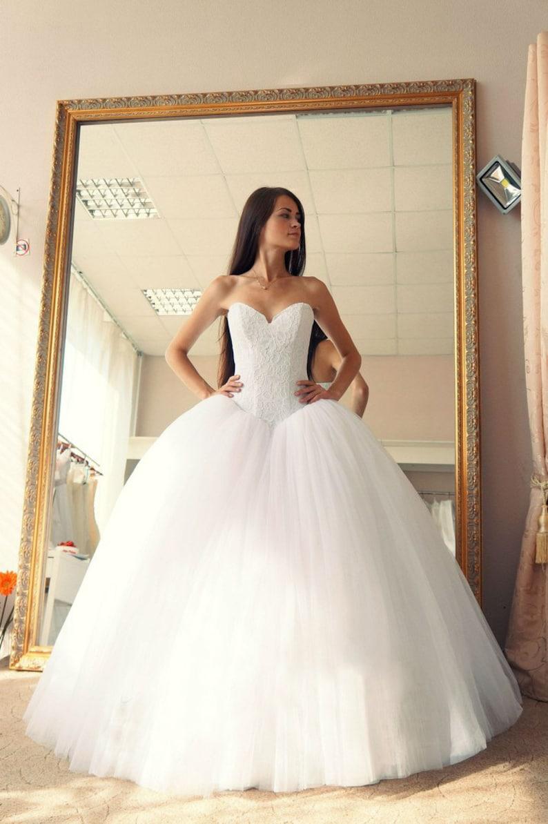 a601cd6fa0be1 Ball gown wedding dress Vera wedding dress puffy wedding | Etsy