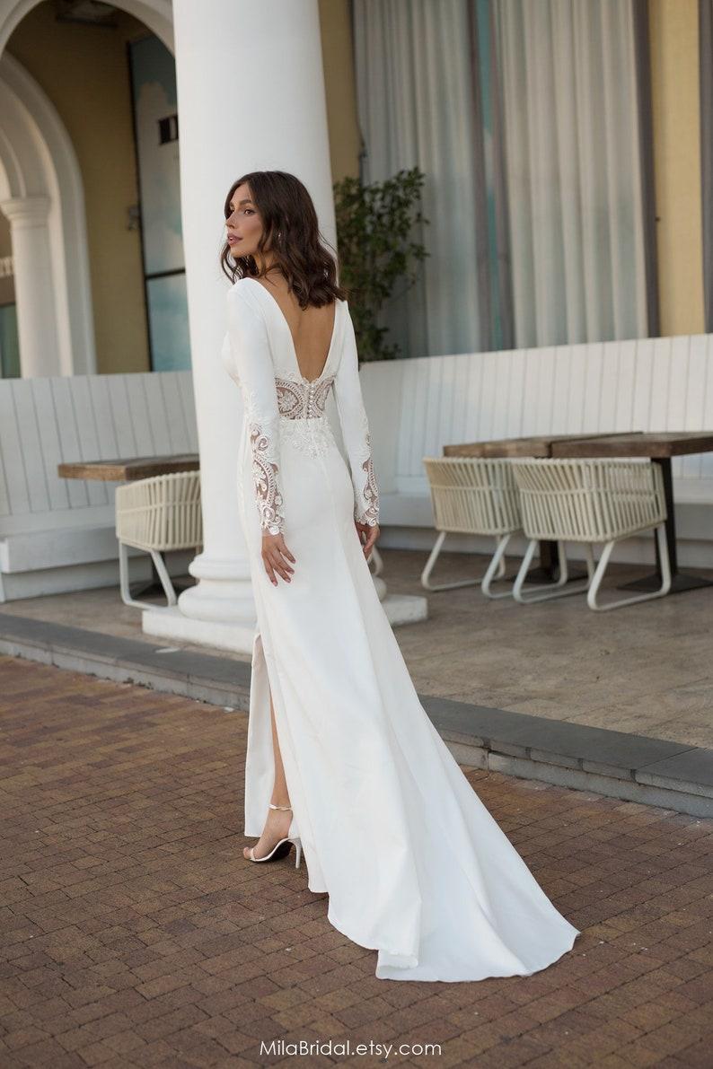 wedding dress Alisia a line wedding dress sleeves wedding image 3