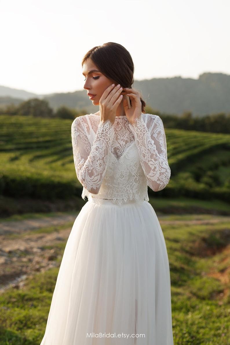 Wedding dress Leslie long-sleeve wedding dress bridal image 3
