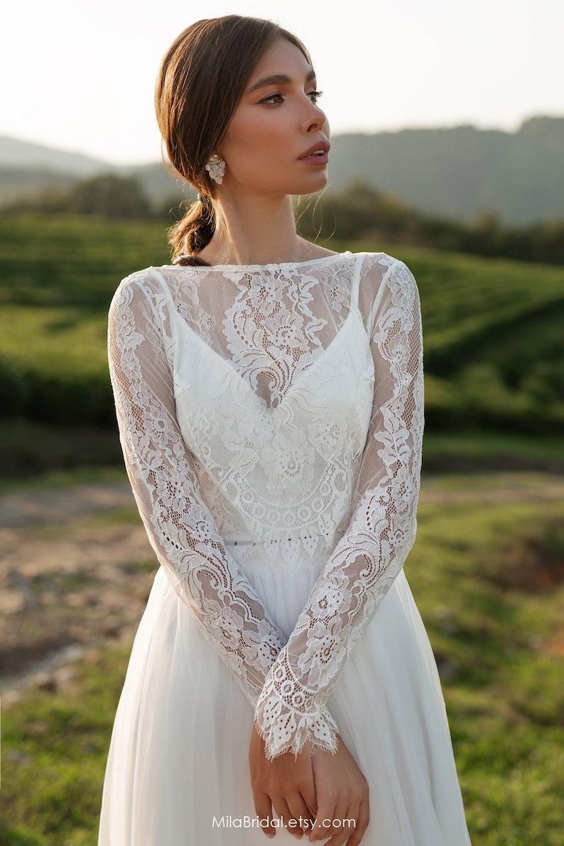 Wedding dress Leslie long-sleeve wedding dress bridal image 0