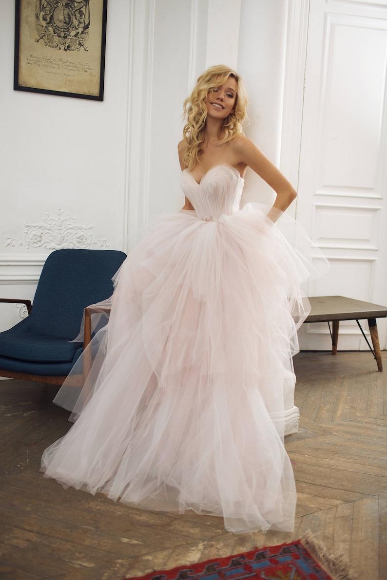 Tulle wedding dress '' Augusta'' Strapless image 2
