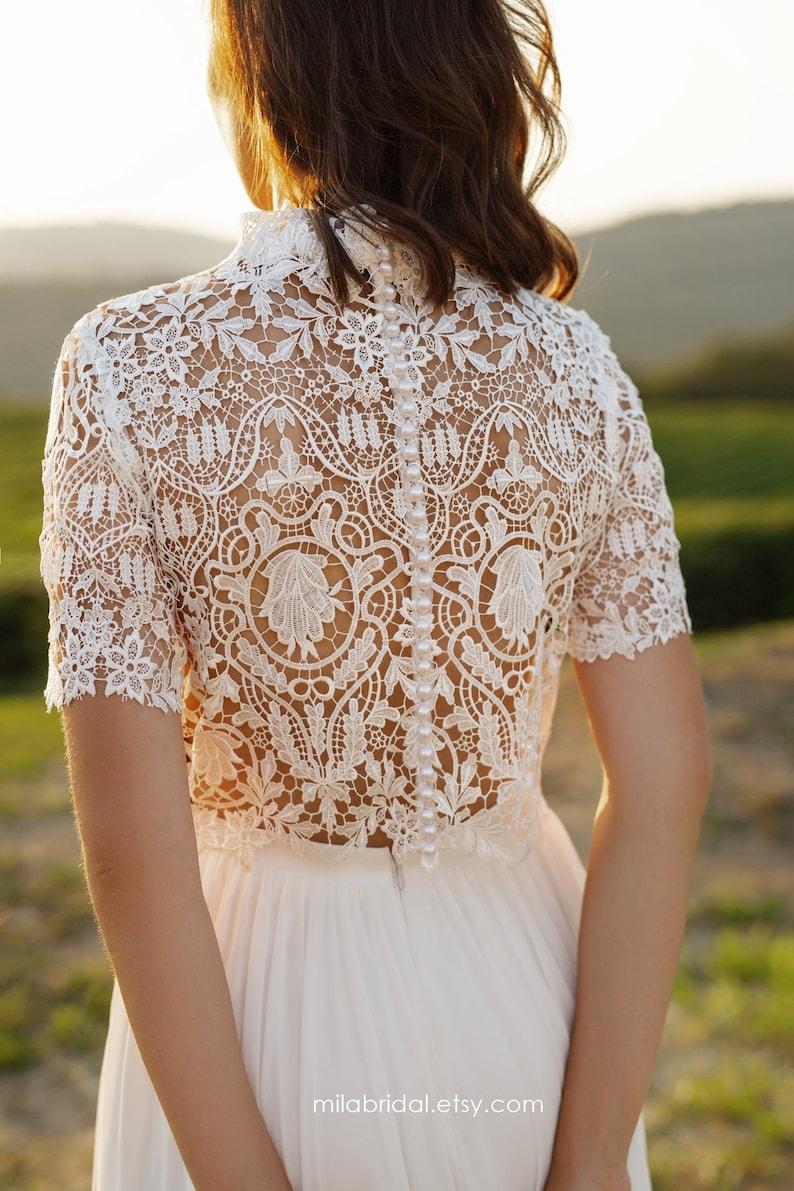 Riki  boho wedding dress  bridal separates  wedding dress image 5