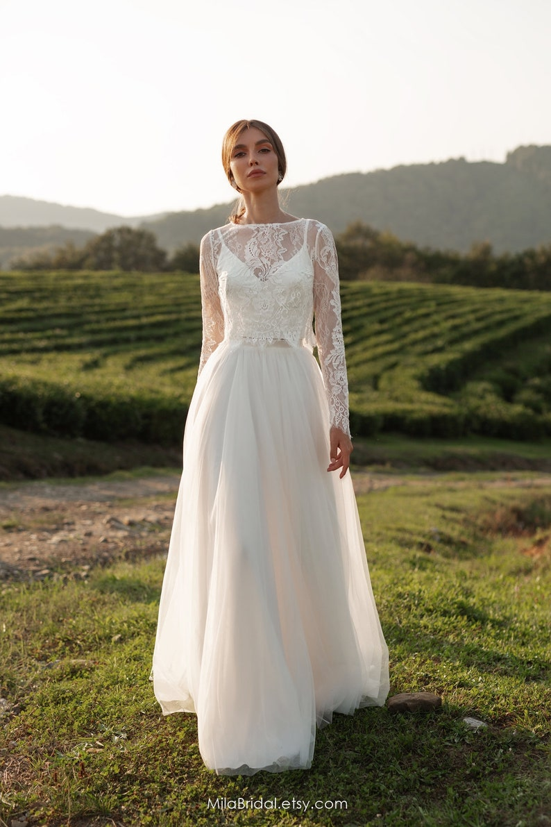 Wedding dress Leslie long-sleeve wedding dress bridal image 1
