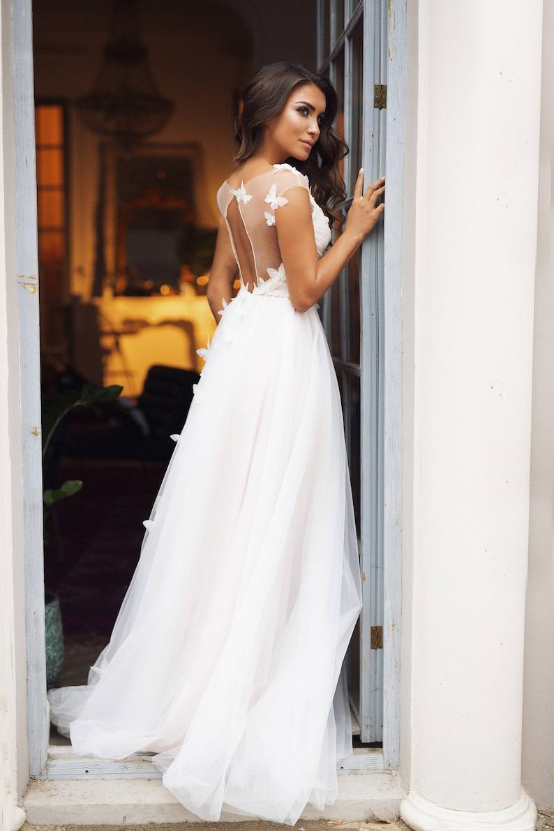 Martinez wedding dress butterflies rustic wedding dress image 2
