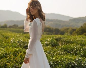 simple boho wedding dresses ANASTEISHA