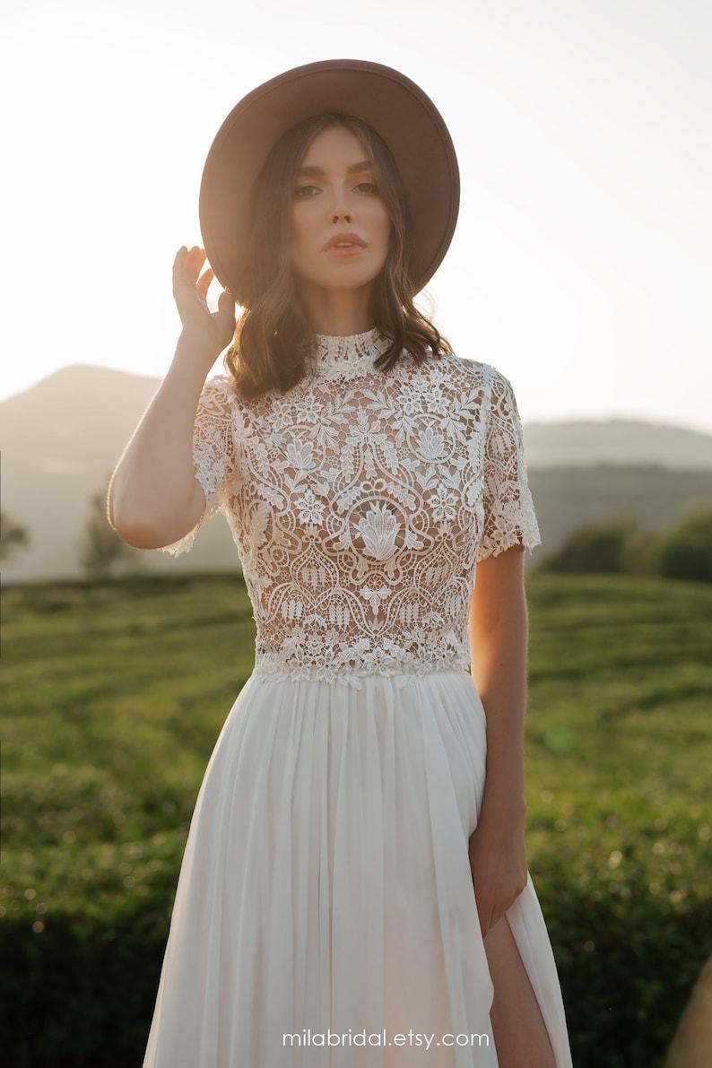 Riki  boho wedding dress  bridal separates  wedding dress image 0