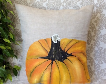 Fall Pumpkin Pillows/Fall Pillow Cover/Thanksgiving/Fall Home Decor/Fall Festivals/Halloween/Hand-painted/Pillow Cover/Fall Holidays/Indoor