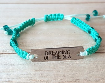 """Dreaming of the Sea"" bracelet stainless steel"