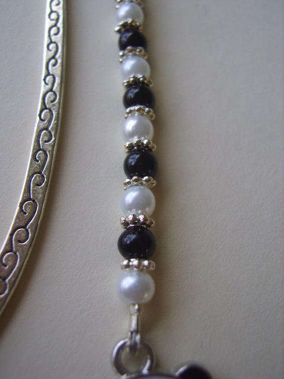 Tibetan Silver Bookmark Ivory Beads /& FLOWER//DAISIES//DAISY Gift//Present.