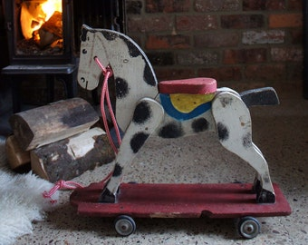 Painted French Wooden Horse