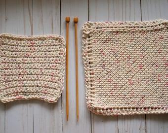 100% Cotton Dish Cloths / Knit & Crochet