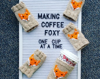 Knit Fox coffee sleeve
