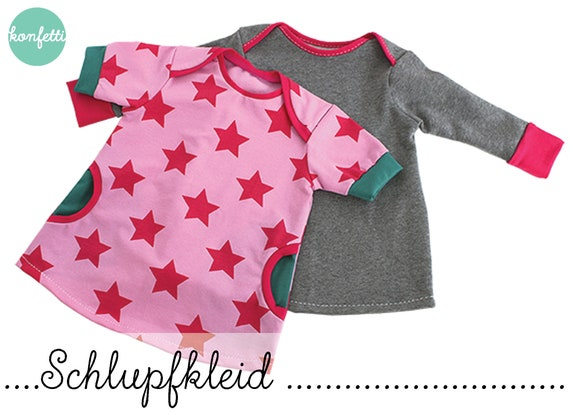 Schlupfkleid Babykleid Gr. 50-104 Schnittmuster / ebook | Etsy