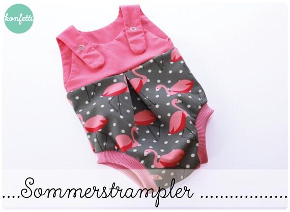 Sommerstrampler Strampler Gr. 50-92 Baby Schnittmuster / ebook | Etsy
