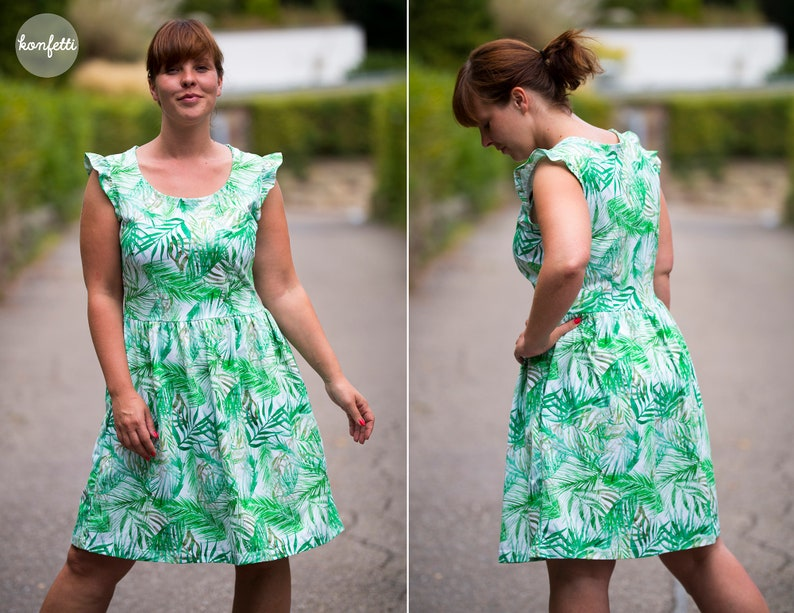06d7279819cb53 Frederike Damenkleid Kleid Gr.32-50 Schnittmuster / ebook | Etsy