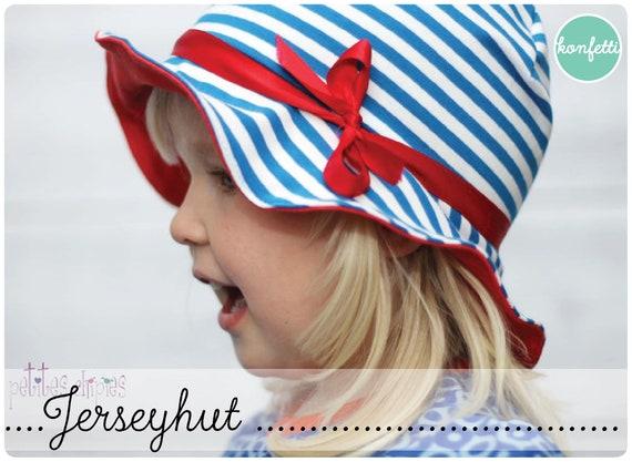 Jerseyhut für Kinder Sommerhut Hut / Schnittmuster / ebook | Etsy