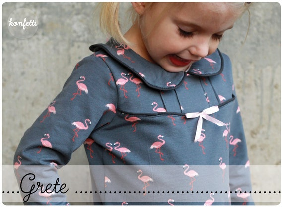 Grete Bubikragen-Shirt Schnittmuster Gr. 86-164 Mädchen | Etsy