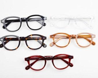 Vintage 1990s Johnny Depp Lemtosh style Acetate Round Glasses - Mens Glasses Retro