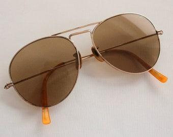 fce1ea94c6cc Vintage 1940s WW2 12k Gold Filled MC Aviators Sunglasses