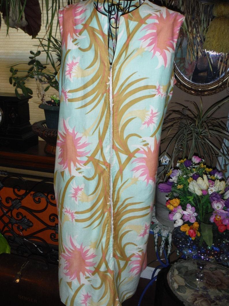 1950 Tropical Cotton Skimmer Dress
