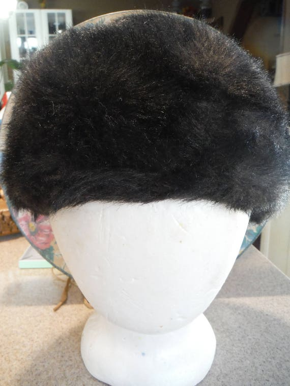 1950's Brown Faux Fur Women's Bucket Hat