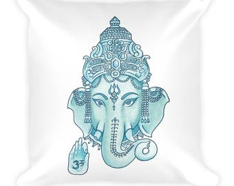 Ganesha Square Pillow Tumblr Hipster Grunge Aesthetic Rad Hindu Religion Hinduism Home