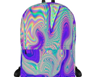 01af7c94dc Pastel Backpack Tumblr Hipster Grunge Aesthetic Psychedelic Rad Pastel  Kawaii Trippy Holographic Accessories Streetwear Bag