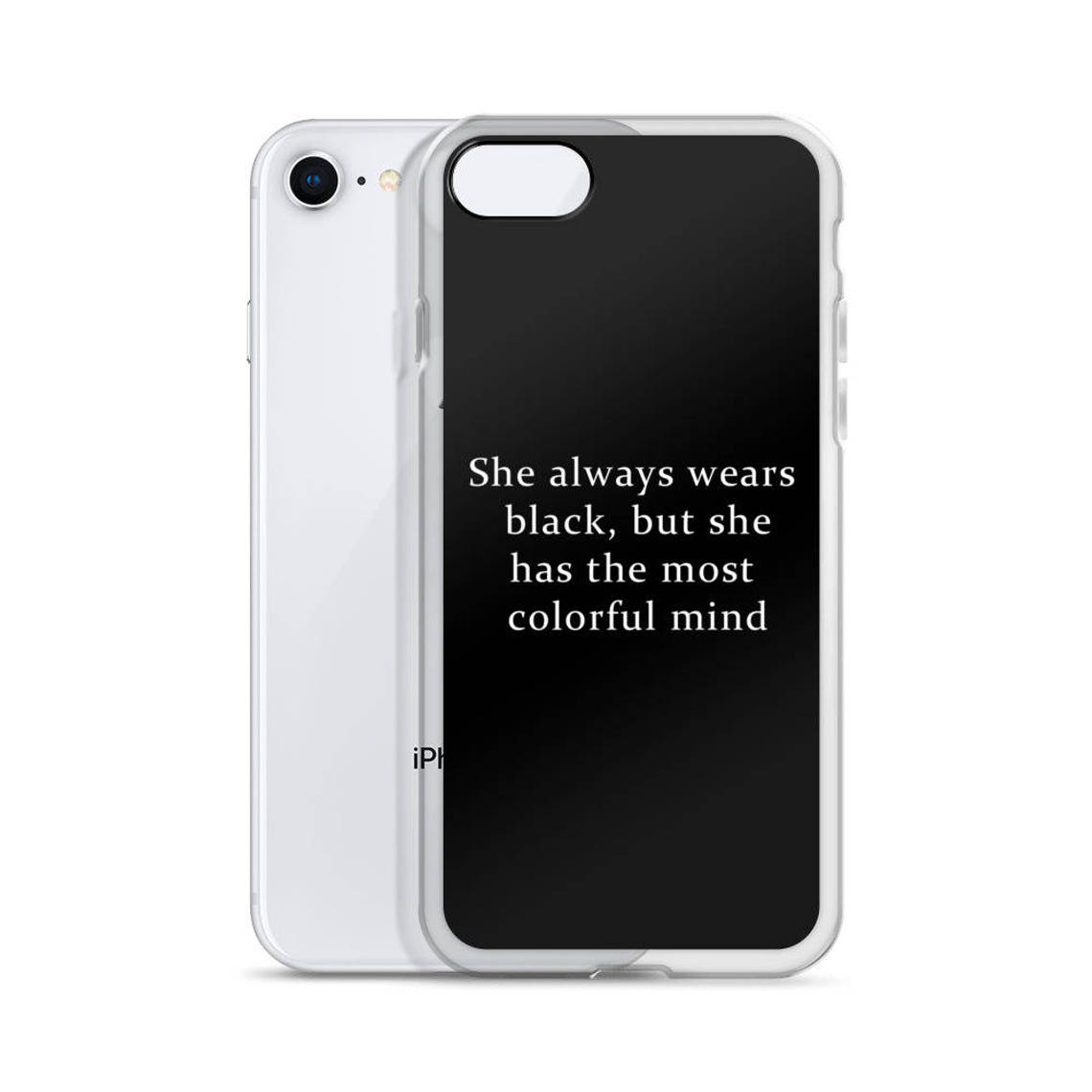 She Wears Black Iphone Cases Tumblr Hipster Grunge Aesthetic Etsy