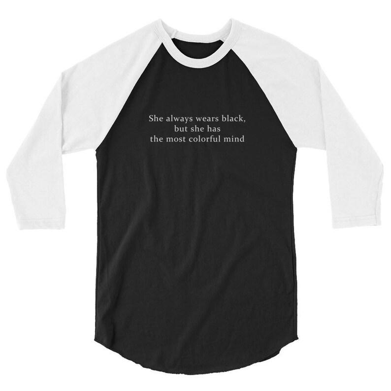 e5f46a91ff2 She Wears Black Unisex Raglan Tumblr Hipster Grunge Aesthetic