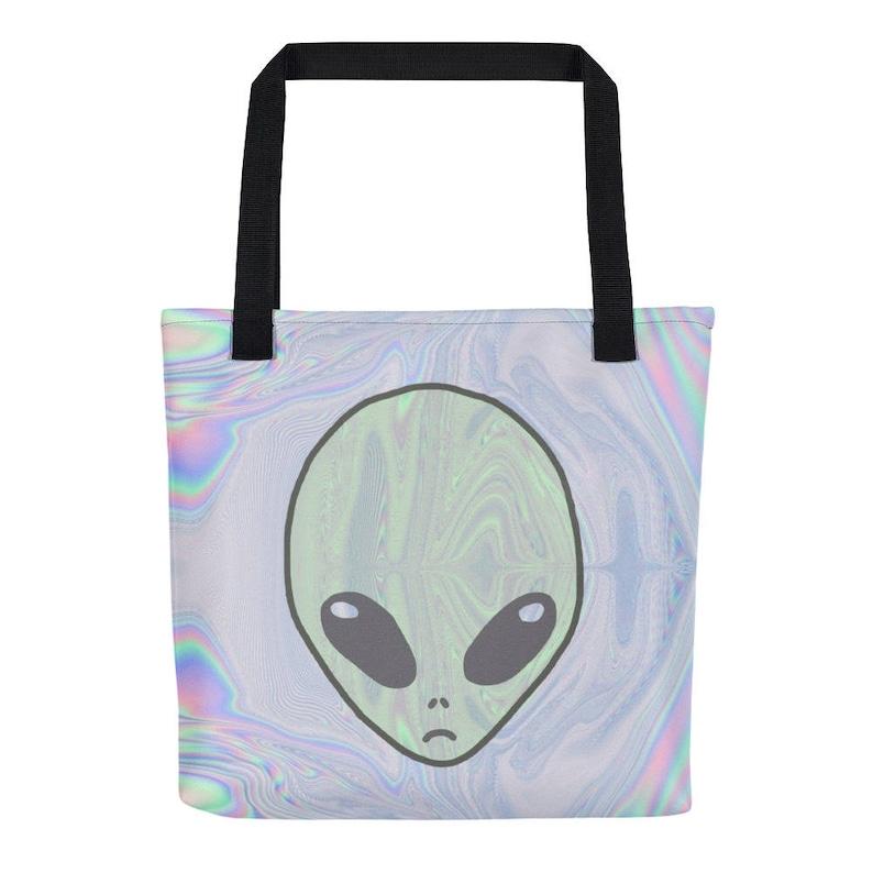 cfbc4ac6530 Alien Pastel Tote Bag Tumblr Hipster Grunge Aesthetic