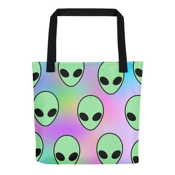 Chill Out Tote Bag Tumblr Hipster Grunge Aesthetic Streetwear Gothic Pastel Psychedelic Trippy Urban Rad Alien Acid