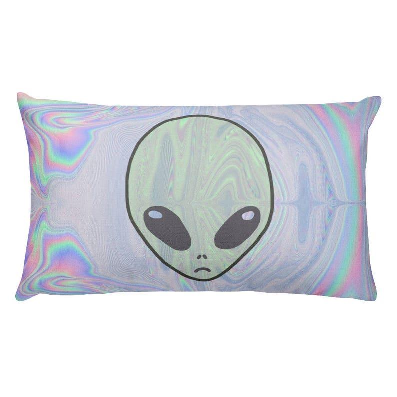 fb7ab70131e Alien Pastel Rectangular Pillow Tumblr Hipster Grunge Aesthetic Streetwear  Paste... Alien Pastel Rectangular Pillow Tumblr Hipster Grunge Aesthetic ...