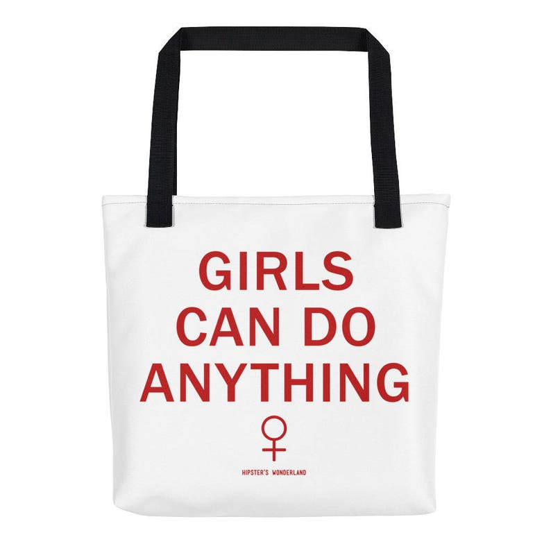 7699df629dd Girls Can Do Anything Tote Bag Tumblr Hipster Grunge Aesthetic