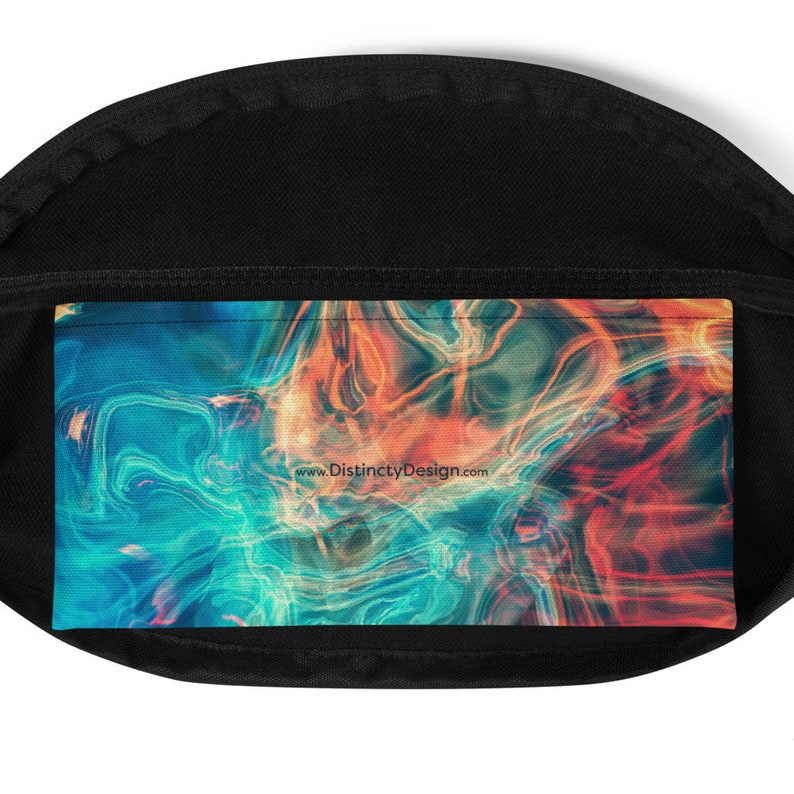 Fanny pack with colorful smoke design Festival bum bag