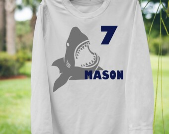 961a4392 Shark Birthday shirt shark rash guard shark swim shirt shark birthday theme  shark theme shirts kids swim shirt