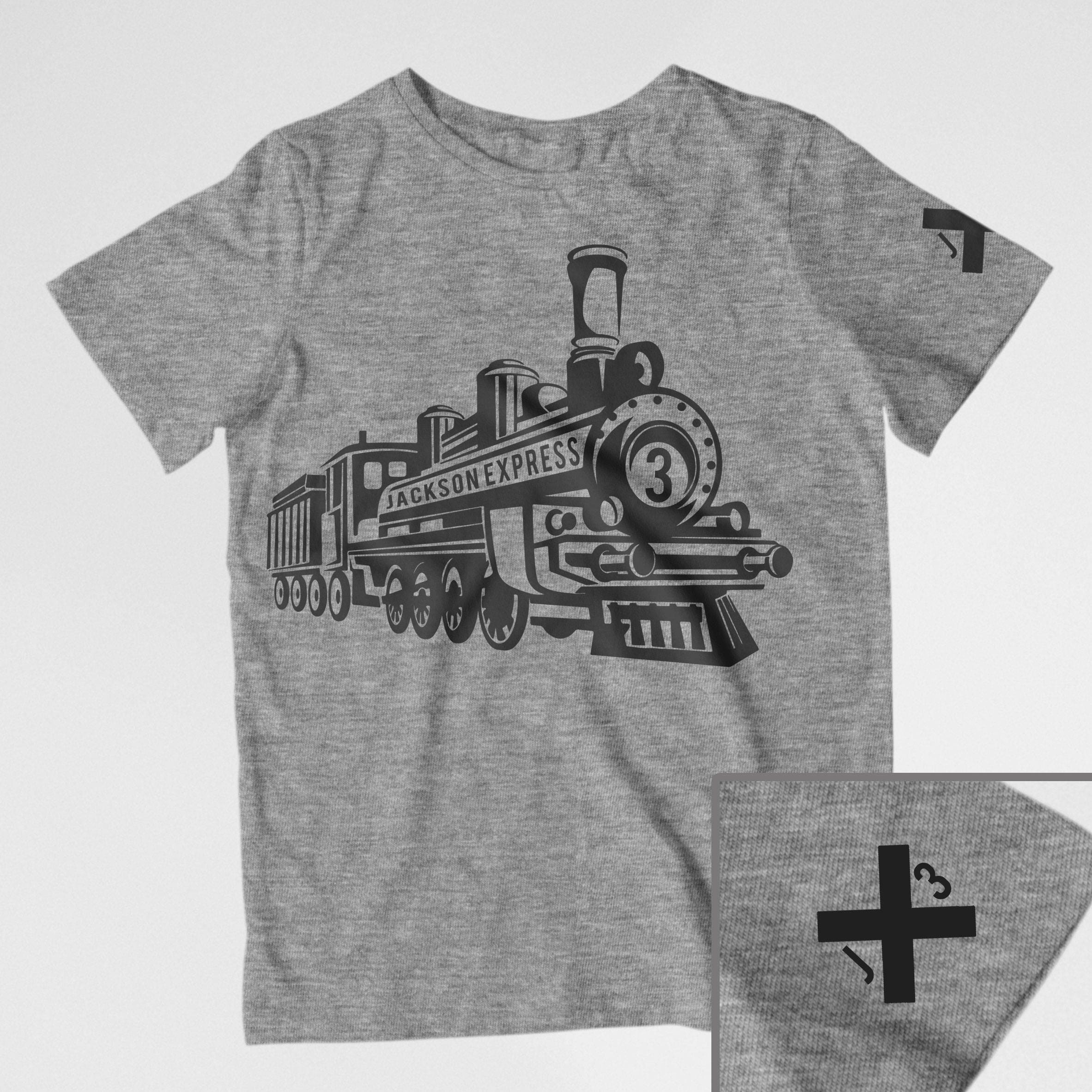Train Birthday Shirt Toddler Theme Conductor
