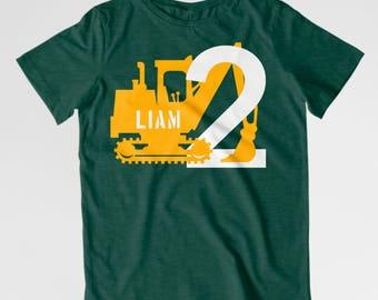 Digger birthday shirt toddler construction birthday shirt Toddler birthday digger theme excavator shirt