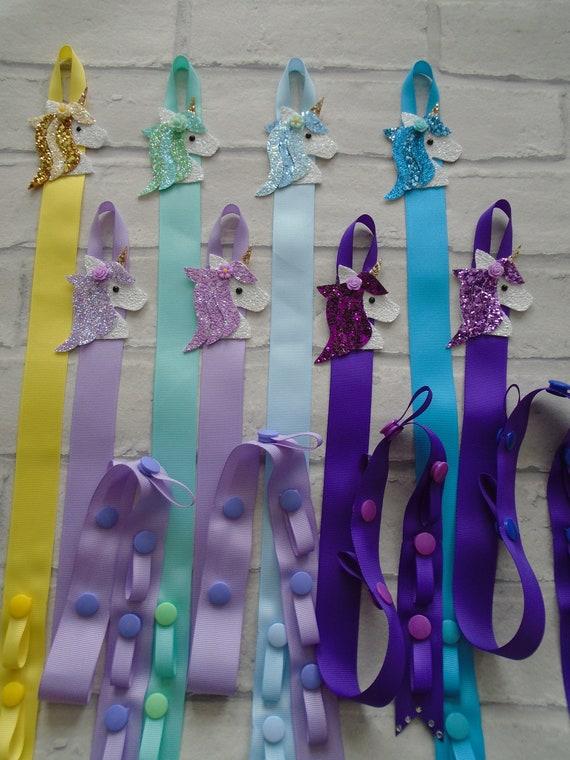 Clips,Bobbles Headbands Handmade Hair Bow  Holder Unicorn Rhinestone