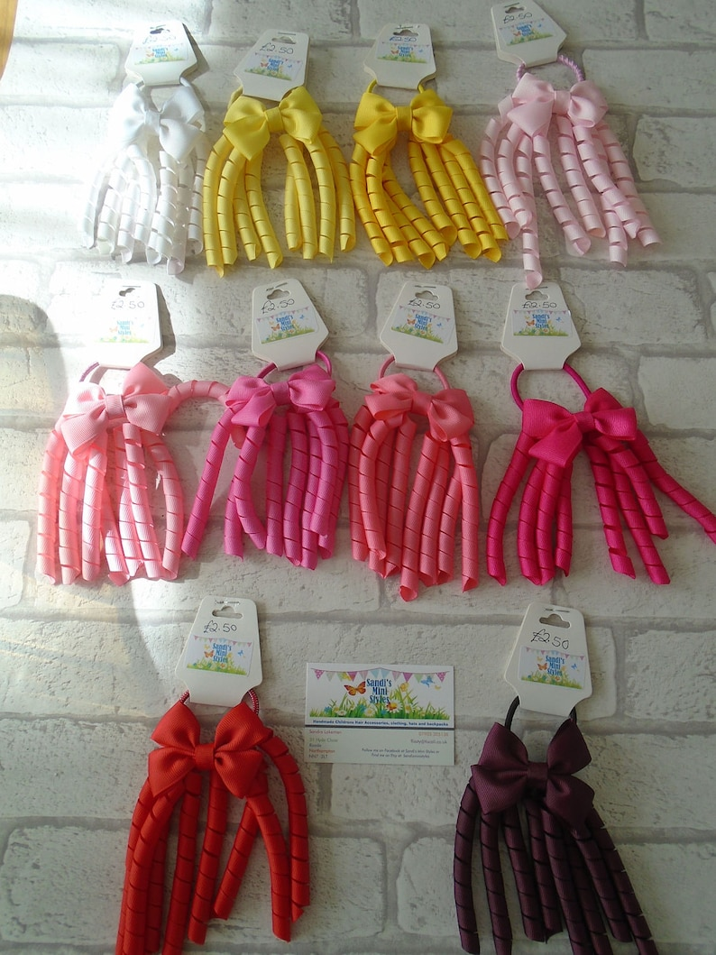 Korker bobble hair bobble ribbons curly ribbon bobbles  5e29a895b50