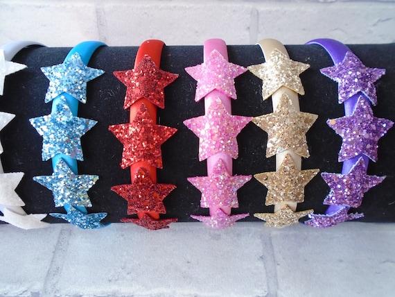 New Girls White Metallic Print Unicorn Corker Hair Bow Bobble Spiral Ribbon