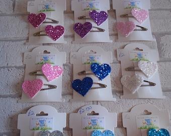 glitter heart hair clips girls heart hair slides glittery hair clips party bag toddler birthday gifts christmas gifts girls hair accessory
