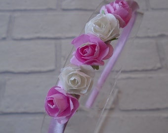 flower headband floral headband girls alice band headband with flowers mulberry flowers lowergirl headband bridesmaid wedding headband roses