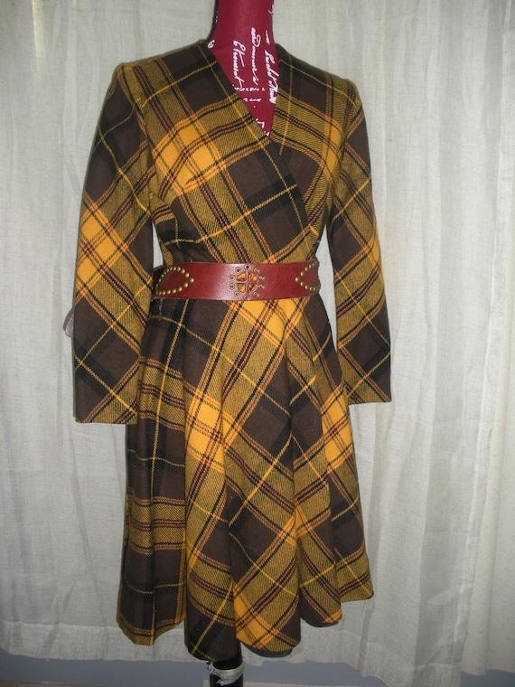 "Anne Fogarty Vintage Wrap Dress ""Paper Doll"" Lined"