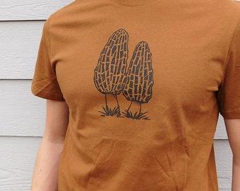 Mushroom lovers shirt, morels, botanist gift, forager, farmers market, mycology, mushroom lovers gift, shroom lover, nature gifts