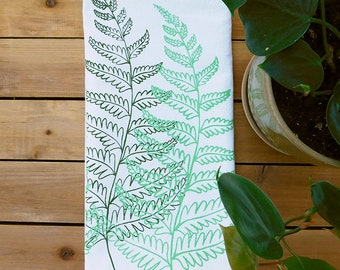 Fern print tea towel, fern illustration, botanical, housewarming, mother's day gift, gifts for plant lovers, hiking, camping, floral