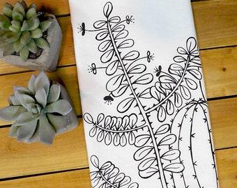 Cacti tea towel, cactus art print, succulents, plant lover gift, vineyard wedding, garden party, southwest, botanical, summer, plant mama