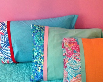 Lilly pulitzer pillow case Etsy